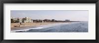Framed Surf on the beach, Santa Monica Beach, Santa Monica, Los Angeles County, California, USA