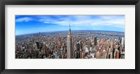 Framed Aerial view of New York City with empire state building, New York State