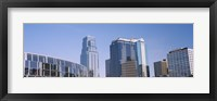 Framed Low angle view of downtown skyline, Town Pavilion, Kansas City, Missouri