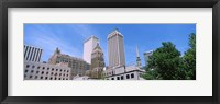 Framed Low angle view of downtown buildings, Tulsa, Oklahoma
