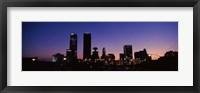 Framed Downtown Oklahoma City at Night