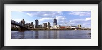 Framed Ohio River, Cincinnati, Hamilton County, Ohio