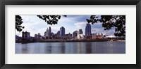 Framed City at the waterfront, Ohio River, Cincinnati, Hamilton County, Ohio