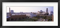 Framed High angle view of buildings in a city, Durham, Durham County, North Carolina, USA