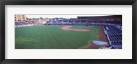 Framed Baseball stadium in a city, Durham Bulls Athletic Park, Durham, Durham County, North Carolina, USA