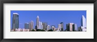 Framed City skyline, Charlotte, Mecklenburg County, North Carolina, USA