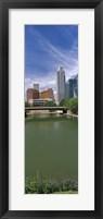 Framed Buildings at the waterfront, Omaha, Nebraska (vertical)