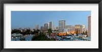 Framed Skyline at dawn, Oakland, California, USA