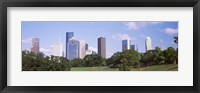 Framed Downtown skylines, Houston, Texas