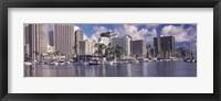 Framed Downtown Honolulu, Oahu, Hawaii, USA