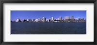 Framed Skyscrapers along a lake, Lake Merritt, Oakland, California, USA