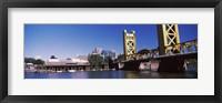 Framed Tower Bridge, Sacramento, CA, USA