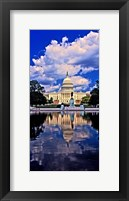 Framed Government building on the waterfront, Capitol Building, Washington DC