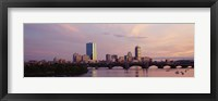 Framed Charles River, Back Bay, Boston, Massachusetts