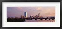 Framed Charles River, Back Bay, Boston, Massachusetts