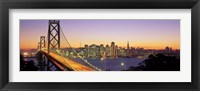 Framed San Francisco Bay Bridge At Dusk, California