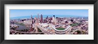 Framed Aerial View Of Jacobs Field, Cleveland, Ohio, USA