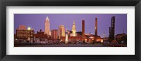 Framed Skyline, Cleveland, Ohio, USA