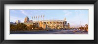 Framed Facade of a baseball stadium, Jacobs Field, Cleveland, Ohio, USA