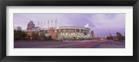 Framed Baseball stadium at the roadside, Jacobs Field, Cleveland, Cuyahoga County, Ohio, USA