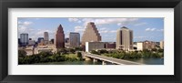 Framed Buildings in a city, Town Lake, Austin, Texas, USA