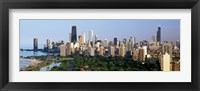 Framed Skyline with Hancock Building and Sears Tower, Chicago, Illinois