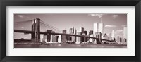Framed Brooklyn Bridge, Hudson River, NYC, New York City, New York State, USA
