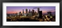 Framed Skyline At Dusk, Cityscape, Skyline, City, Atlanta, Georgia, USA