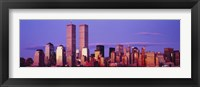 Framed Manhattan skyline with the Twin Towers, New York City, New York State, USA