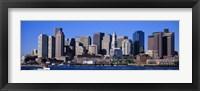 Framed Skyline, Cityscape, Boston, Massachusetts, USA,