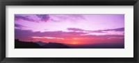 Framed Clouds over mountains, Sierra Estrella Mountains, Phoenix, Arizona, USA