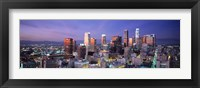 Framed Night, Skyline, Cityscape, Los Angeles, California, USA