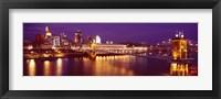Framed USA, Ohio, Cincinnati, night
