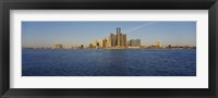 Framed Skyscrapers on the waterfront, Detroit, Michigan, USA