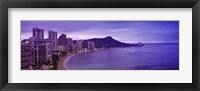 Framed Diamond Head, Waikiki, Oahu, Honolulu, Hawaii