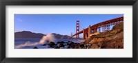 Framed Bridge across the bay, San Francisco Bay, Golden Gate Bridge, San Francisco, Marin County, California, USA