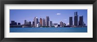 Framed Detroit, Michigan Skyline