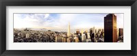 Framed High angle view of a city, Transamerica Building, San Francisco, California, USA