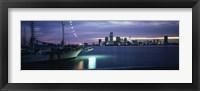 Framed Sailboat in the sea, Miami, Miami-Dade County, Florida, USA