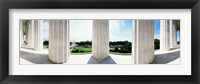 Framed Lincoln Memorial Columns, Washington DC