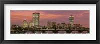 Framed Back Bay, Boston, Massachusetts, USA