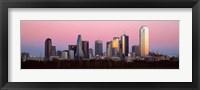 Framed Twilight, Dallas, Texas, USA