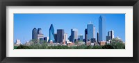 Framed Downtown Dallas Texas