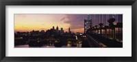 Framed Bridge over a river, Benjamin Franklin Bridge, Philadelphia, Pennsylvania, USA