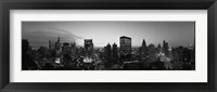 Framed Black and White View of Chicago Skyline
