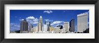 Framed Skyscrapers in a city, Charlotte, Mecklenburg County, North Carolina, USA