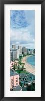 Framed High angle view of a beach, Waikiki Beach, Honolulu, Oahu, Hawaii, USA
