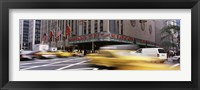 Framed Cars in front of a building, Radio City Music Hall, New York City, New York State, USA