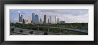 Framed Houston Skyline from a Distance, Texas, USA