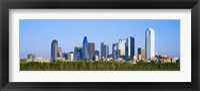Framed Dallas Texas Skyline